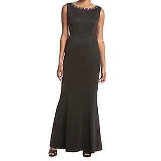 Connected Apparel NEW Black Women's Size 12 Embellished Sheath Dress