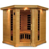 GDI Royal 4 to 5-person Far Infrared Carbon Hemlock Wood Corner Sauna