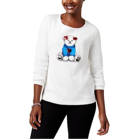 Karen Scott Womens Polar Bear Graphic T-Shirt
