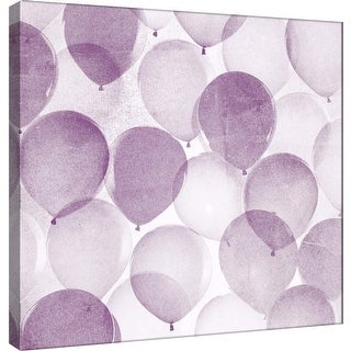 """PTM Images 9-101174  PTM Canvas Collection 12"""" x 12"""" - """"Airy Balloons in Midnight B"""" Giclee Celebrations Art Print on Canvas"""