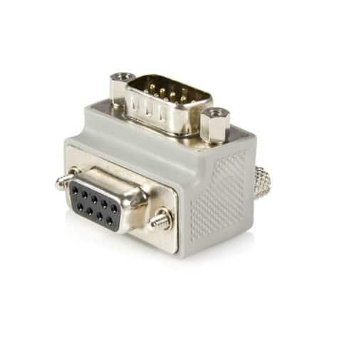 StarTech GC99MFRA1 StarTech.com Right Angle DB9 to DB9 Serial Cable Adapter Type 1 - M/F - 1 x DB-9 Male - 1 x DB-9 Female