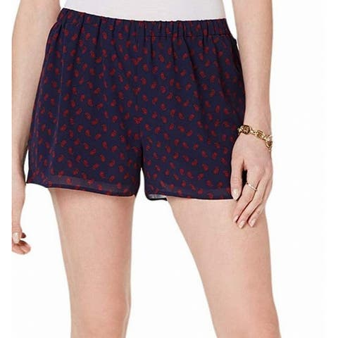 MICHAEL Michael Kors Womens Shorts Blue Size XXS Paisley-Print Chiffon