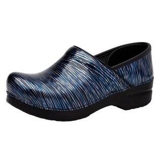 Dansko Shoes Womens Professional Stripes Patent Wavy Stripes