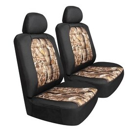 Pilot Automotive Universal Brown Camouflage Canvas Seat Cover (Set of 6)