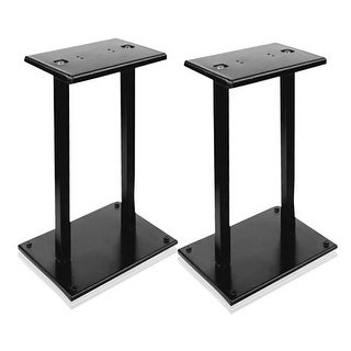 Heavy-Duty Steel Quad Support Bookshelf / Monitor Speaker Stands