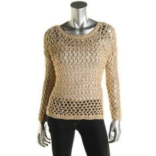 Denim & Supply Ralph Lauren Womens Crochet Boatneck Pullover Top - S