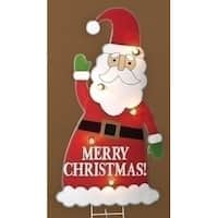 "3' Lighted Santa Claus ""Merry Christmas"" Outdoor Decoration"