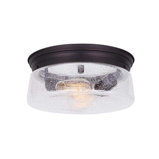"Canarm IFM623A12 Mill 2 Light 12"" Wide Flush Mount Ceiling Fixture"
