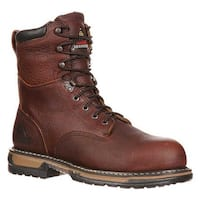 """Rocky Men's 8"""" IronClad 6693 Boot Bridle Brown Leather"""