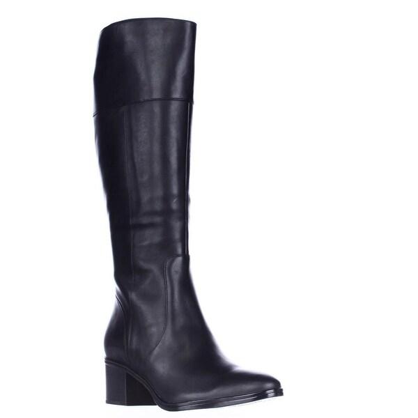 naturalizer Harbor Wide Calf Riding Boots, Black