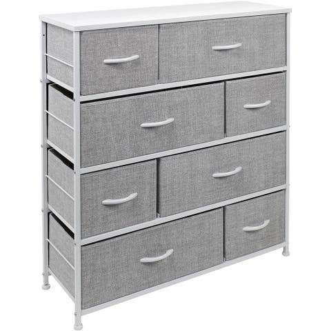 Dresser w/ 8 Drawers Furniture Storage & Chest Tower for Bedroom