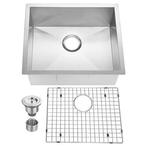 18 Gauge Stainless Steel Single Bowl Kitchen Sink