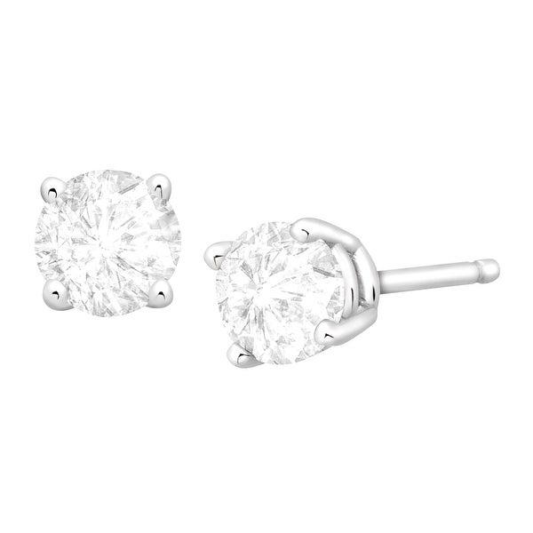 3/4 ct Diamond Stud Earrings in 14K White Gold