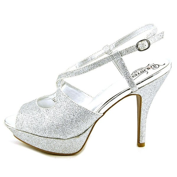 Kenneth Cole Unlisted Womens Couple of Hours Gl Peep Toe, Silver, Size 7.0