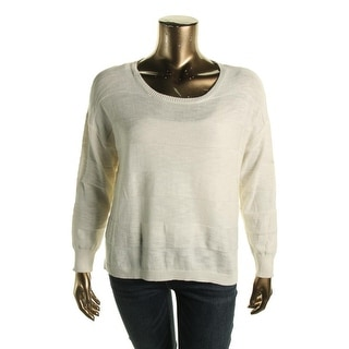 Two by Vince Camuto Womens Striped Crew Neck Pullover Sweater