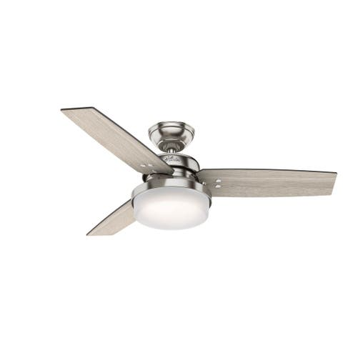 """Hunter 44"""" Sentinel Ceiling Fan with LED Light and Handheld Remote"""