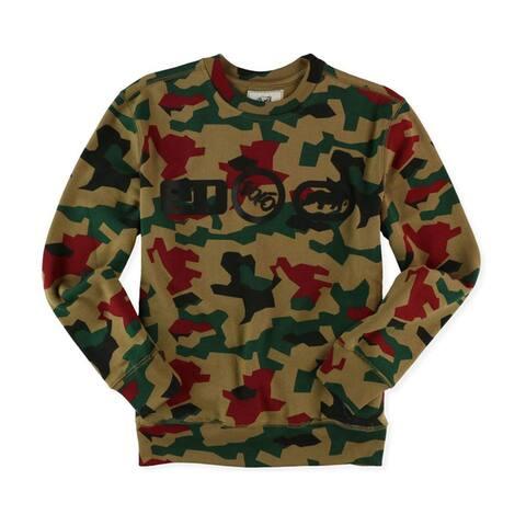 Ecko Unltd. Mens Camo Logos Sweatshirt, Brown, X-Small