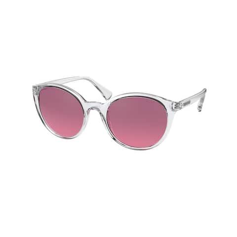 Ralph RA5273 500220 53 Shiny Crystal Woman Oval Sunglasses - Clear