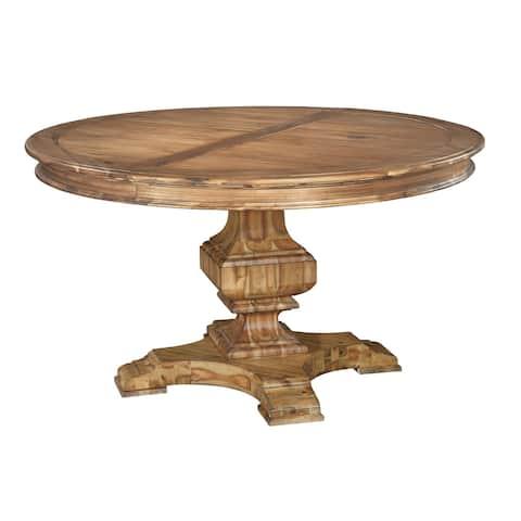 Hekman Furniture Wellington Hall Natural Woodgrain Wood Round Kitchen Dining Table