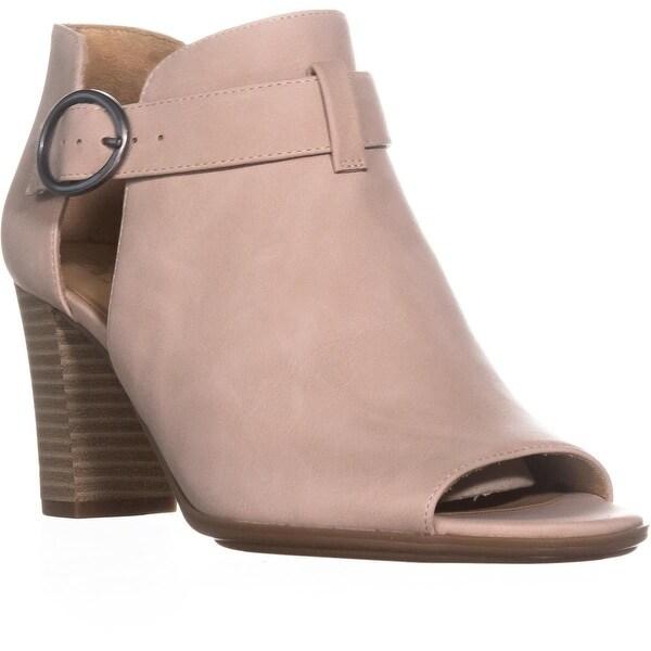 naturalizer Lauren Buckle Peep Toe Sandals, Soft Marble - 8.5 us / 38.5 eu
