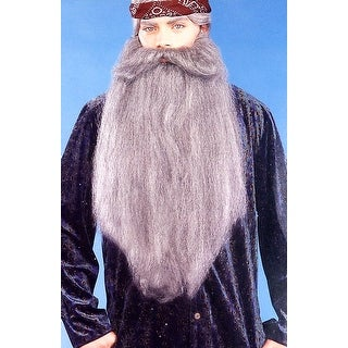 "Duck Hunter 18"" Facial Hair Accessory Grey Beard Moustache - gray"