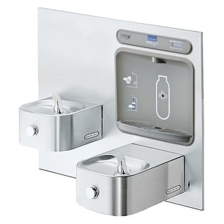 Elkay EZWS-EDFP217K EZH20 Drinking Fountain and Bottle Filling Station with Integral Soft Sides