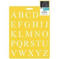 "Times Alphabet 1"" - Stencil Mania Stencil 7""X10"""