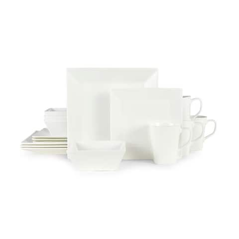 Mikasa Delray Square Bone China 16 Piece Dinnerware Set (Service for 4)