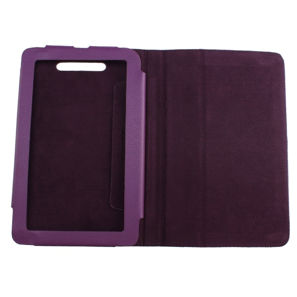 Image Leather Cover Case Stand for Nook Tablet/ Nook Color Purple ...