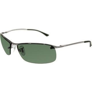 Ray-Ban Men's RB3183 RB3183-004/71-63 Silver Semi-Rimless Sunglasses