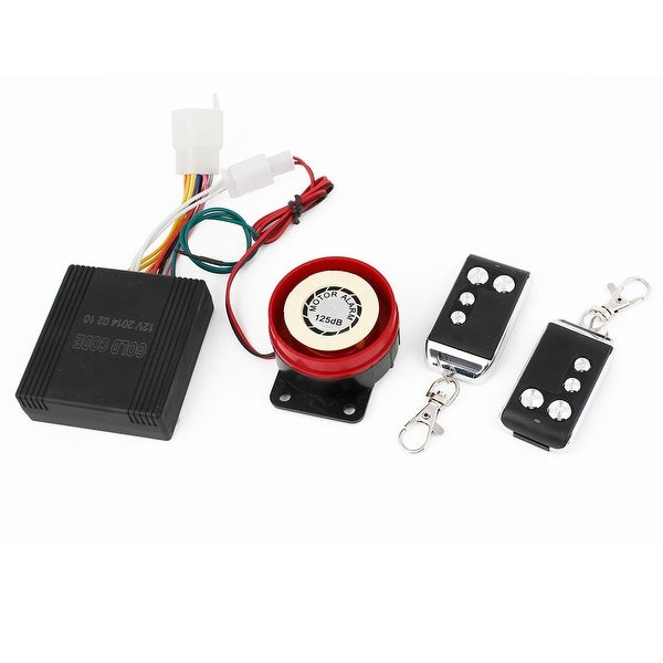 Motorcycle Remote Control Anti-theft Device Security Alarm System Set 4 in 1