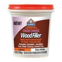 Elmer's E916 Color Change Interior Wood Filler, 8 Oz, White