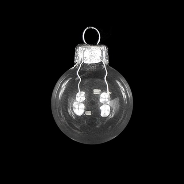 """28ct Shiny Clear Transparent Glass Ball Christmas Ornaments 2"""" (50mm)"""