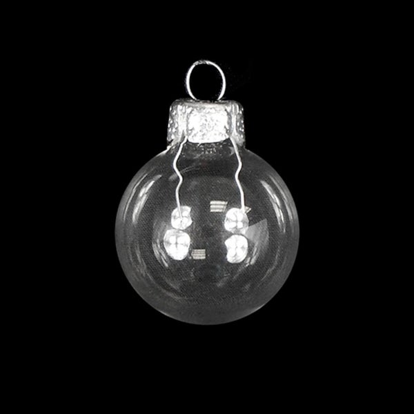 "Shiny Clear Glass Ball Christmas Ornament 7"" (180mm)"
