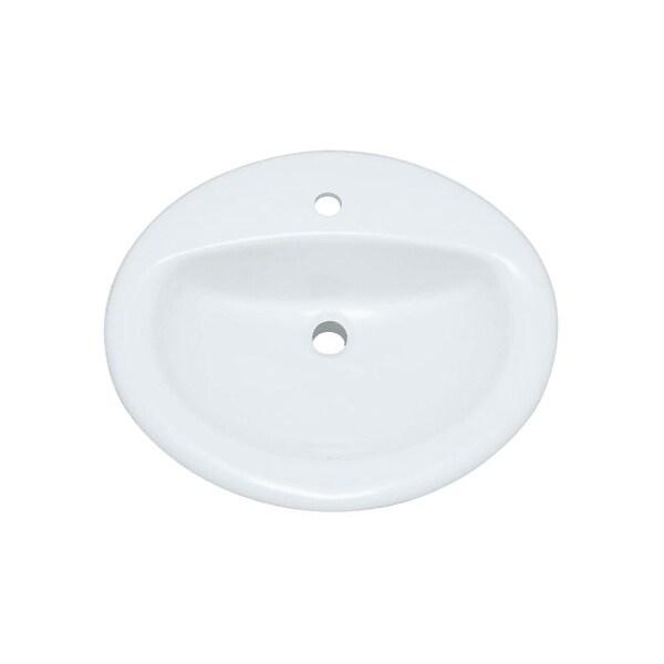 "PROFLO PF20171 20-1/2"" Self Rimming Oval Bathroom Sink - White - n/a"