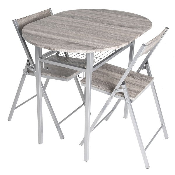 Wondrous Shop Zenvida 3 Piece Wood Drop Leaf Breakfast Table And 2 Home Interior And Landscaping Transignezvosmurscom