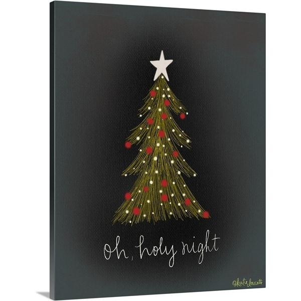 """""""Oh Holy Night Tree"""" Canvas Wall Art"""