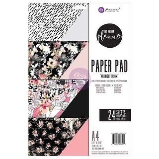 Midnight Bloom; 6 Designs/4 Each - My Prima Planner Double-Sided A4 Paper Pad 24/Pkg
