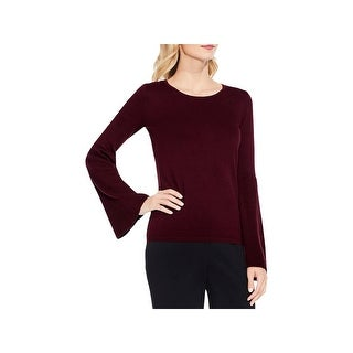 Vince Camuto Womens Pullover Sweater Ribbed Knit Bell Sleeves