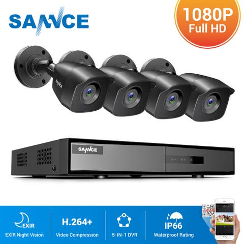 SANNCE 8CH 1080p Security Camera System 5-in-1 CCTV DVR Recorder