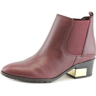 Marc Fisher Danton Women Round Toe Leather Ankle Boot