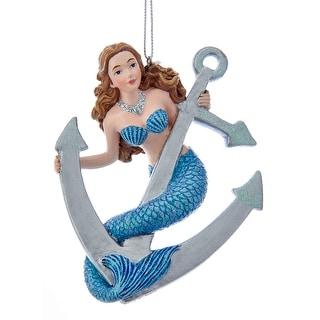 Kurt Adler Mermaid with Ships Anchor  Holiday Ornament Resin