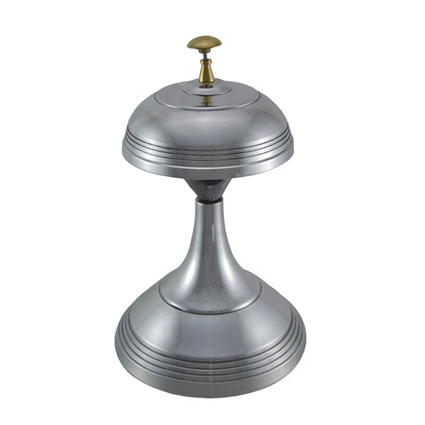 Polished Aluminum Antique Style Tall Service Bell