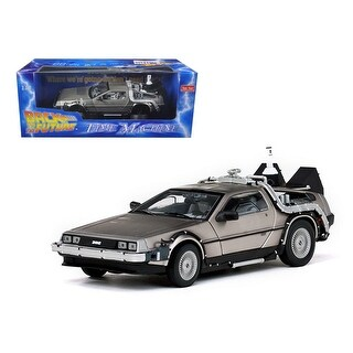 Delorean Time Machine From Back To The Future II Movie 1/18 Diecast Model Car by Sunstar