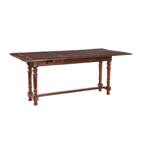 Northampton Acacia 72-inch Folding Dining Table with Storage