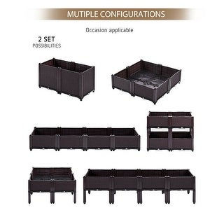 Link to Elevated Garden Vegitable and Flower Planter Box Kit - 2Set Similar Items in Filing Storage & Accessories