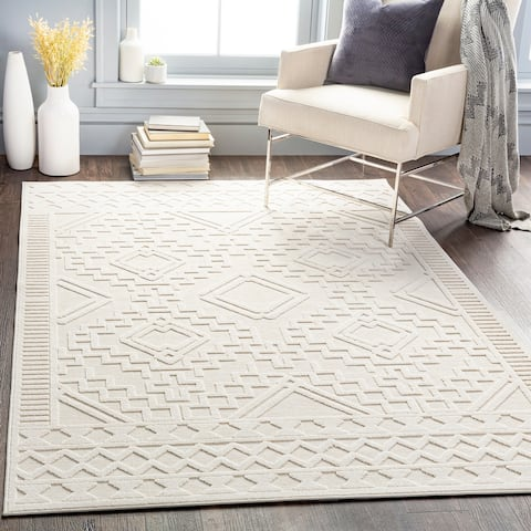 Tylee Indoor/ Outdoor Southwest Diamond Area Rug