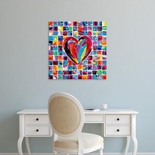 Easy Art Prints Carolee Vitaletti's 'Hearts of a Different Color II' Premium Canvas Art