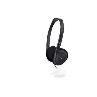 Cyber Acoustics 3.5MM Plug ACM-90 Stereo Headset with Volume Control - Black