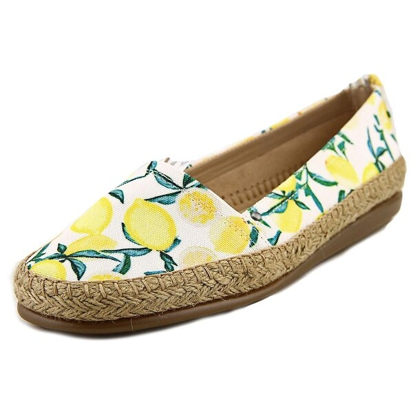 Aerosoles Solitaire Women Round Toe Canvas Yellow Espadrille